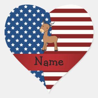 Personalized name Patriotic impala Sticker