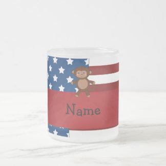 Personalized name Patriotic monkey Coffee Mugs
