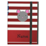 Personalized name Patriotic mouse iPad Cover