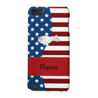 Personalized name Patriotic narwhal iPod Touch 5G Cases