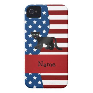 Personalized name Patriotic panther iPhone 4 Covers