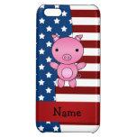 Personalized name Patriotic pig iPhone 5C Cover