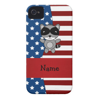 Personalized name Patriotic raccoon iPhone 4 Cover