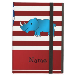 Personalized name Patriotic rhino iPad Air Cover