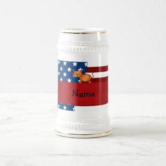 Personalized name Patriotic tiger Mug