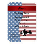 Personalized name Patriotic whale 5x7 Paper Invitation Card