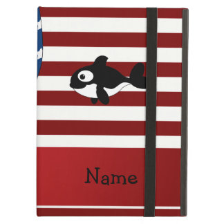 Personalized name Patriotic whale iPad Case