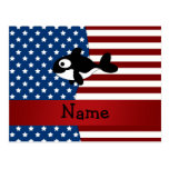 Personalized name Patriotic whale Postcard