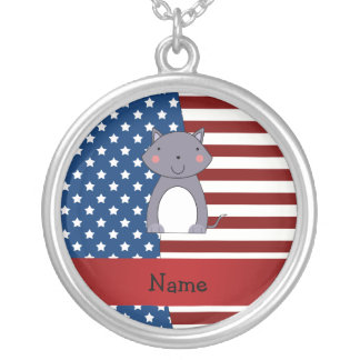 Personalized name Patriotic wolf Custom Jewelry