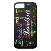 personalized name pattern for her iPhone 8/7 case