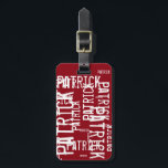 """personalized name pattern typography bag tag<br><div class=""""desc"""">Create a typographic pattern with your Name</div>"""