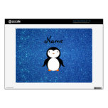 Personalized name penguin blue glitter acer chromebook decals