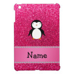 Personalized name penguin pink glitter case for the iPad mini