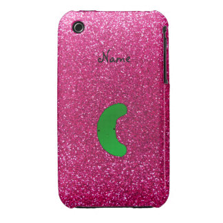 Personalized name pickle pink glitter Case-Mate iPhone 3 case