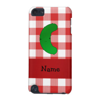 Personalized name pickle red white checkers iPod touch (5th generation) case