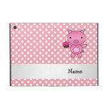 Personalized name pig with cupcake polka dots cases for iPad mini
