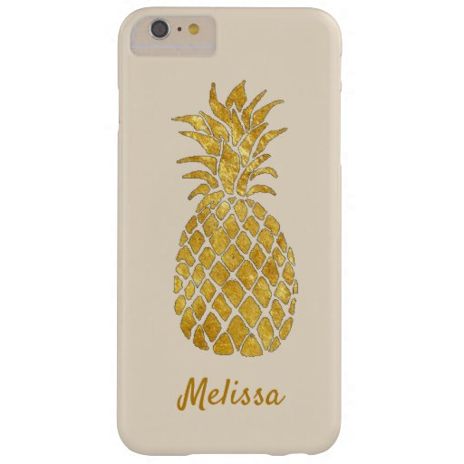 personalized name pineapple  barely there iPhone 6 plus case