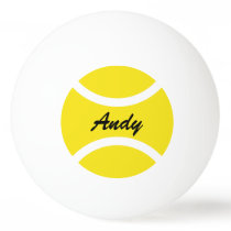 Personalized name ping pong table tennis balls