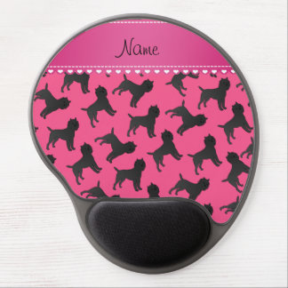 Personalized name pink affenpinscher dogs gel mouse pad
