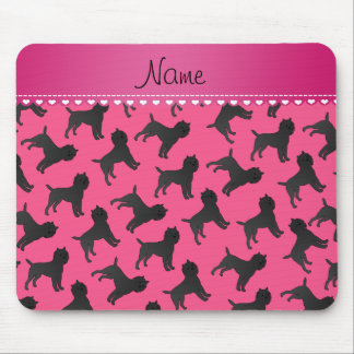 Personalized name pink affenpinscher dogs mouse pad