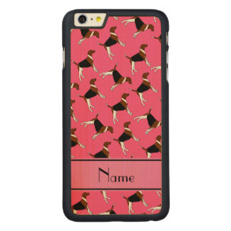Personalized name pink american foxhound dogs carved® maple iPhone 6 plus slim case