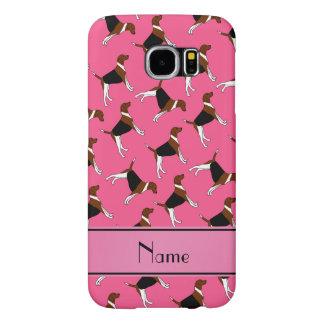Personalized name pink american foxhound dogs samsung galaxy s6 cases