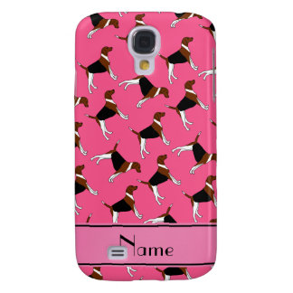 Personalized name pink american foxhound dogs samsung galaxy s4 cover