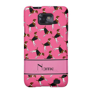 Personalized name pink american foxhound dogs samsung galaxy SII cover