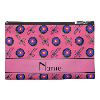 Personalized name pink archery travel accessories bags