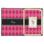 Personalized name Pink argyle iPad Air Case
