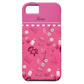 Personalized name pink baby animals iPhone SE/5/5s case