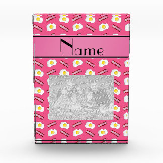 Personalized name pink bacon eggs awards