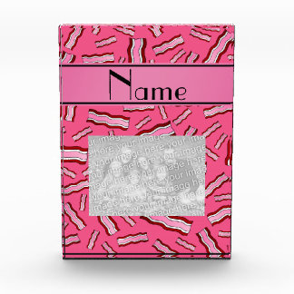 Personalized name pink bacon pattern award