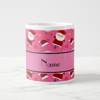 Personalized name pink baseball christmas 20 oz large ceramic coffee mug