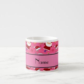 Personalized name pink baseball christmas 6 oz ceramic espresso cup