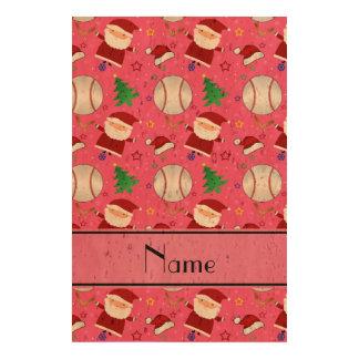 Personalized name pink baseball christmas queork photo print