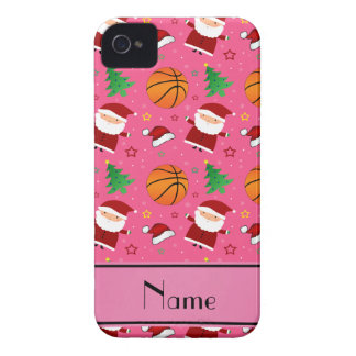 Personalized name pink basketball christmas iPhone 4 Case-Mate cases