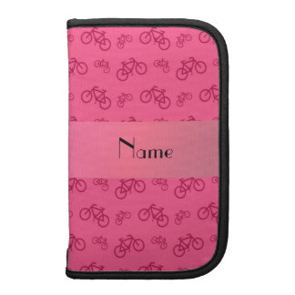 Personalized name pink bicycle pattern organizers