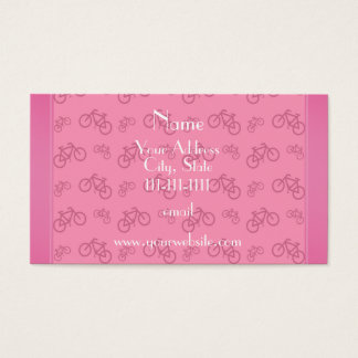 Personalized name pink bicycles business card