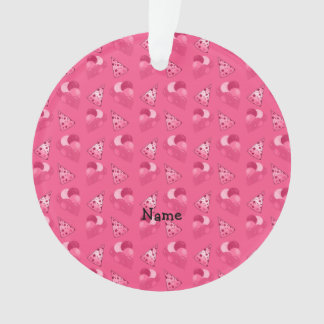 Personalized name pink birthday pattern