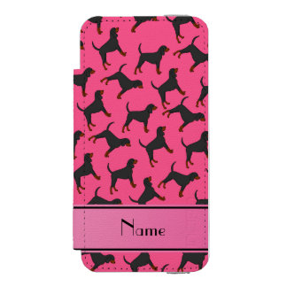 Personalized name pink black tan coonhounds incipio watson™ iPhone 5 wallet case