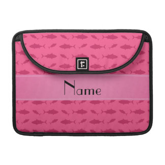 Personalized name pink bluefin tuna pattern sleeve for MacBooks