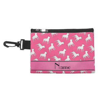 Personalized name pink bull terrier dogs accessories bags