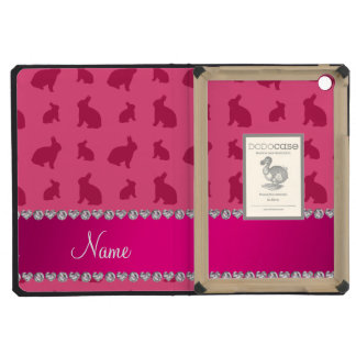 Personalized name pink bunnies iPad mini covers