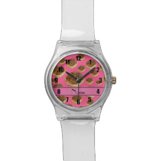 Personalized name pink butter tarts watch