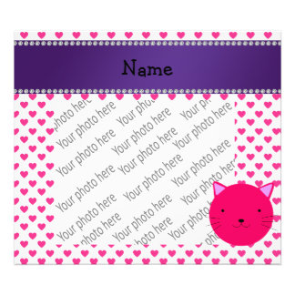 Personalized name pink cat pink hearts polka dots photograph