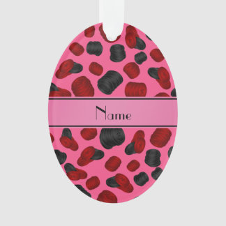 Personalized name pink checkers game
