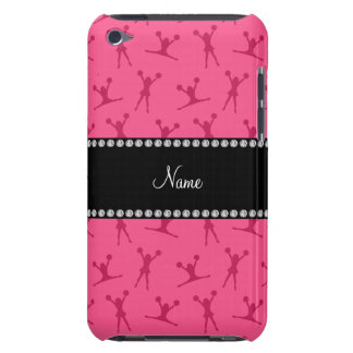 Personalized name pink cheerleader pattern barely there iPod covers