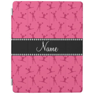 Personalized name pink cheerleader pattern iPad cover