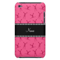Personalized name pink cheerleader pattern iPod touch Case-Mate case